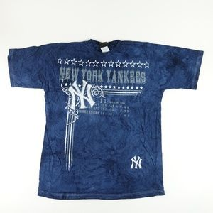 New York Yankees Men Tie-Dye CrewNeck TShirt A7307